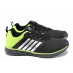 Дамски маратонки Runners 172-15140 черен-зелен | Дамски маратонки и платненки | MES.BG