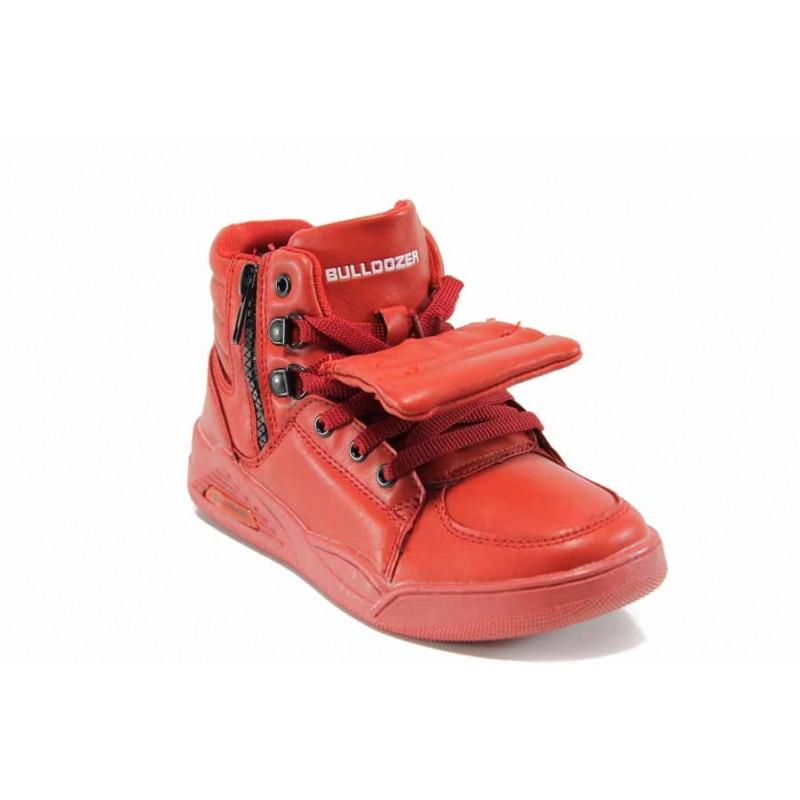 Детски високи кецове БР 72114 червен 31/35 | Детски маратонки | MES.BG