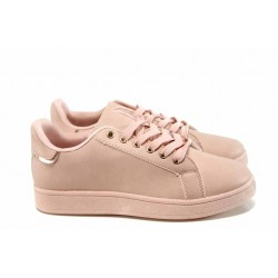 Дамски спортни обувки Bulldozer 72302 розов | Равни дамски обувки | MES.BG