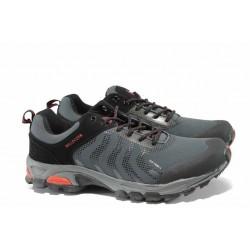 Мъжки водоустойчиви маратонки БР 62239 черен-червен | Мъжки маратонки | MES.BG
