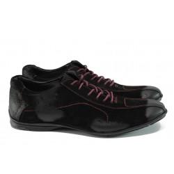 Мъжки спортни обувки от естествен набук ЛД 310 черен | Мъжки ежедневни обувки | MES.BG