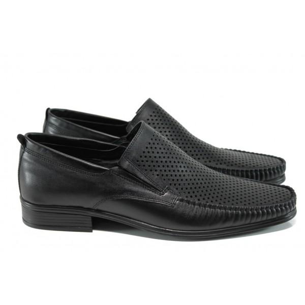 Анатомични мъжки обувки от естествена кожа МИ 06 черен - 2017   Мъжки ежедневни обувки   MES.BG
