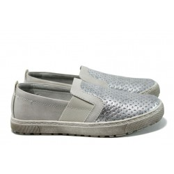 Равни дамски обувки Jana 8-24660-28Н сребро | Равни немски обувки | MES.BG