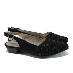 Дамски обувки с отворена пета Jana 8-29563-28Н черен | Немски обувки на ток | MES.BG