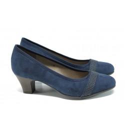 Дамски обувки на ток Jana 8-22474-28Н т.син | Немски обувки на ток | MES.BG