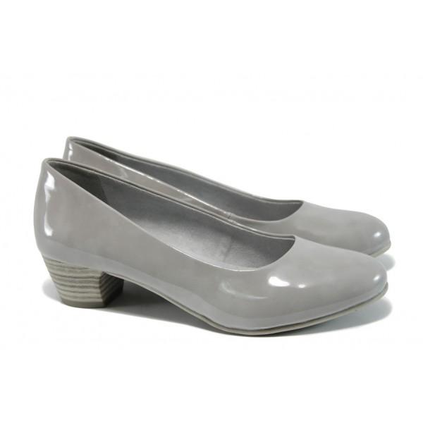 Дамски обувки на ток Jana 8-22360-28Н св.сив | Немски обувки на ток | MES.BG