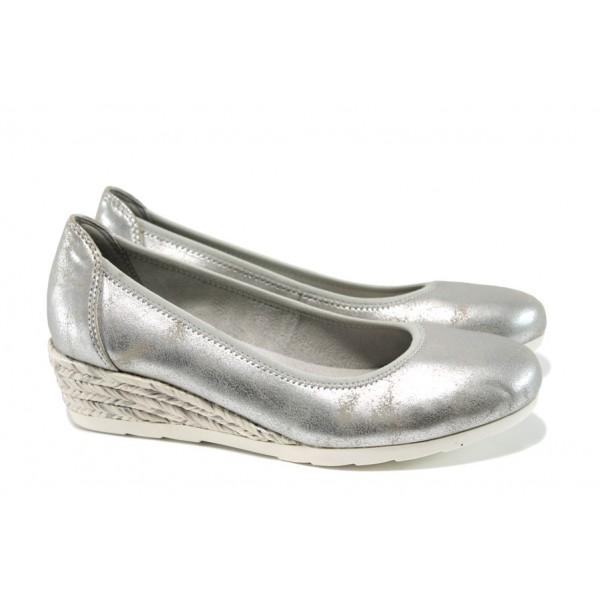 Дамски обувки на платформа Jana 8-22363-28Н сребро | Немски обувки на ток | MES.BG