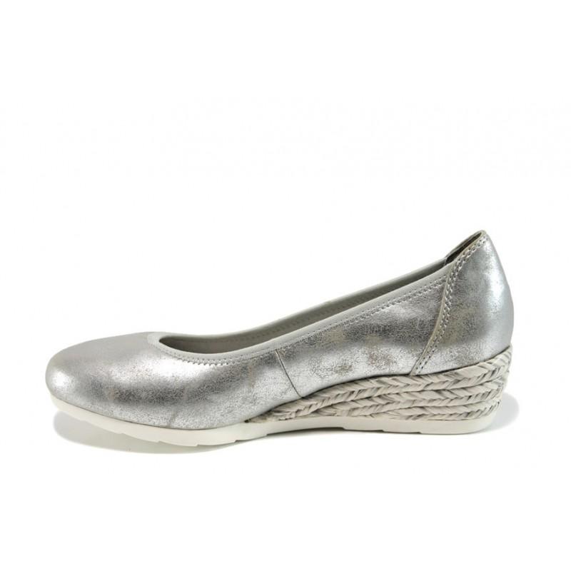 Дамски обувки на платформа Jana 8-22363-28Н сребро   Немски обувки на ток   MES.BG