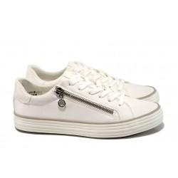 Дамски спортни обувки с мемори пяна S.Oliver 5-23615-38 бял | Равни немски обувки | MES.BG