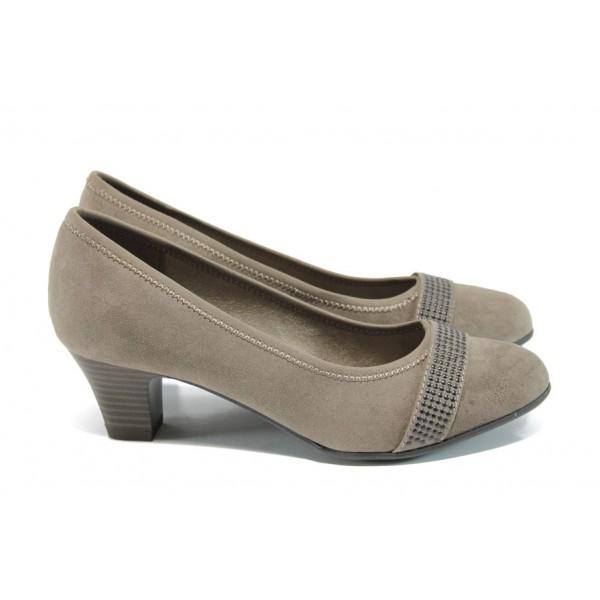 Дамски обувки на ток Jana 8-22474-28Н бежов | Немски обувки на ток | MES.BG