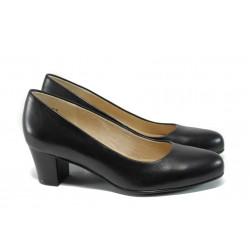 Дамски обувки от естествена кожа Caprice 9-22309-28 черен ANTISHOKK | Немски обувки на ток | MES.BG