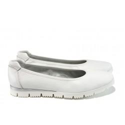 Анатомични обувки от естествена кожа Marco Tozzi 2-22120-28 бял | Равни немски обувки | MES.BG