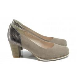 Дамски обувки на висок ток Jana 8-22462-28Н таупе | Немски обувки на ток | MES.BG