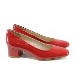 Дамски обувки на ток Jana 8-22302-28G червен | Немски обувки на ток | MES.BG