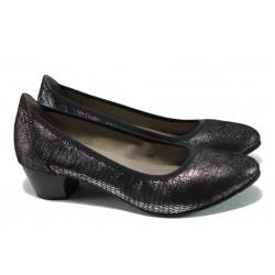 Дамски обувки на ток Jana 8-22361-28Н черен металик | Немски обувки на ток | MES.BG