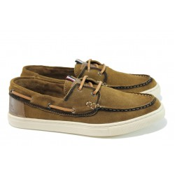 Летни мъжки обувки от естествен набук S.Oliver 5-13608-28 кафяв | Мъжки немски обувки | MES.BG