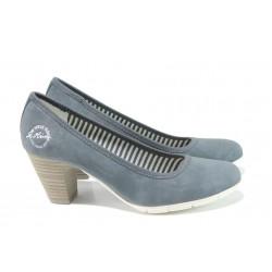Дамски обувки на ток с мемори пяна S.Oliver 5-22405-28 син | Немски дамски обувки | MES.BG