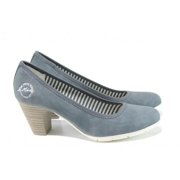 Дамски обувки на ток с мемори пяна S.Oliver 5-22405-28 син   Немски дамски обувки   MES.BG