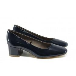 Дамски обувки на ток Jana 8-22302-28G т.син | Немски обувки на ток | MES.BG