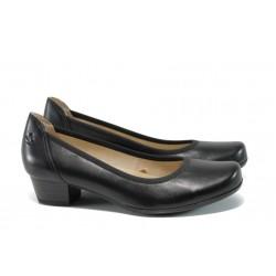 Дамски обувки от естествена кожа Caprice 9-22304-28 черен ANTISHOKK | Немски обувки на ток | MES.BG