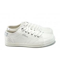 Дамски спортни обувки с мемори пяна S.Oliver 5-23631-28 бял | Равни немски обувки | MES.BG