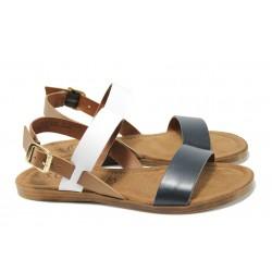 Равни дамски сандали S.Oliver 5-28100-28 т.син | Равни немски сандали | MES.BG