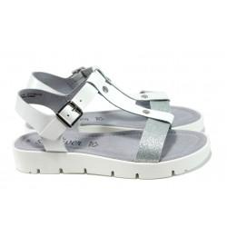 Равни дамски сандали S.Oliver 5-28109-28 бял | Равни немски сандали | MES.BG