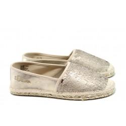 Дамски еспадрили S.Oliver 5-24220-28 злато | Равни немски обувки | MES.BG