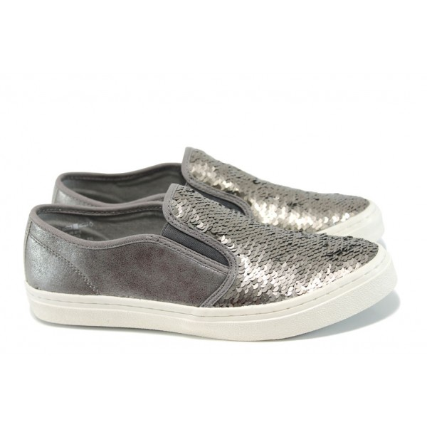 Равни дамски обувки S.Oliver 5-24608-28 сребро | Равни немски обувки | MES.BG