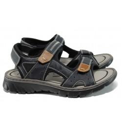 Мъжки сандали с лепенки Rieker 26759-14 т.син | Мъжки немски сандали | MES.BG
