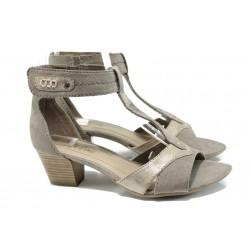 Дамски сандали на ток Jana 8-28360-28 таупе | Немски сандали на ток | MES.BG
