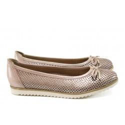 Анатомични обувки от естествена кожа Marco Tozzi 2-22115-28 розов | Равни немски обувки | MES.BG
