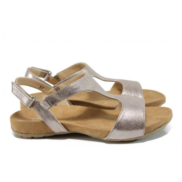 Дамски сандали от естествена кожа Caprice 9-28606-28G розов | Равни немски сандали | MES.BG