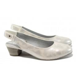 Дамски лачени обувки Jana 8-29561-28Н бял-сребро | Немски обувки на ток | MES.BG