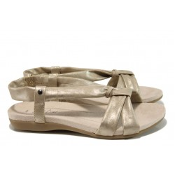 Анатомични дамски сандали Jana 8-28160-28 злато | Равни немски сандали | MES.BG