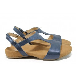 Дамски сандали от естествена кожа Caprice 9-28606-28G син | Равни немски сандали | MES.BG