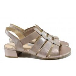 Дамски сандали от естествена кожа Caprice 9-28200-28G розов | Немски сандали на ток | MES.BG