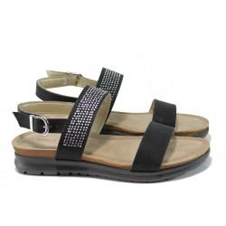 Равни дамски сандали Marco Tozzi 8-28715-28 черен | Равни немски сандали | MES.BG