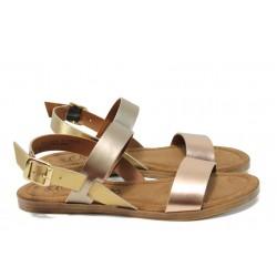 Равни дамски сандали от естествена кожа S.Oliver 5-28100-28 розов | Равни немски сандали | MES.BG