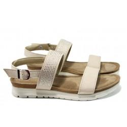 Равни дамски сандали Marco Tozzi 8-28715-28 бежов | Равни немски сандали | MES.BG