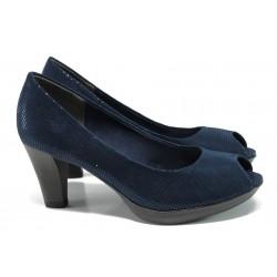 Елегантни дамски обувки Marco Tozzi 2-29302-28 т.син | Немски обувки на ток | MES.BG