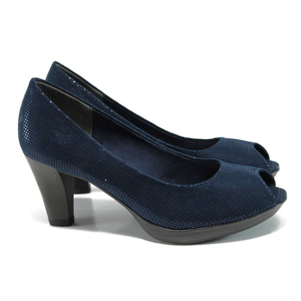 Елегантни дамски обувки Marco Tozzi 2-29302-28 т.син   Немски обувки на ток   MES.BG