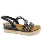 Анатомични дамски сандали Marco Tozzi 2-28505-28 черен | Немски сандали на платформа | MES.BG