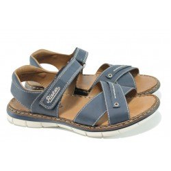 Мъжки сандали с лепенки Rieker 25154-14 син ANTISTRESS | Мъжки немски сандали | MES.BG