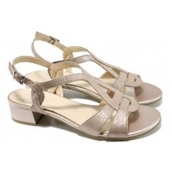 Дамски сандали от естествена кожа Caprice 9-28201-28G розов | Немски сандали на ток | MES.BG
