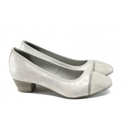 Дамски обувки на ток Jana 8-22300-28Н сив-сребро | Немски обувки на ток | MES.BG