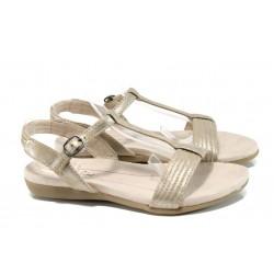Анатомични дамски сандали Jana 8-28165-28Н злато | Равни немски сандали | MES.BG