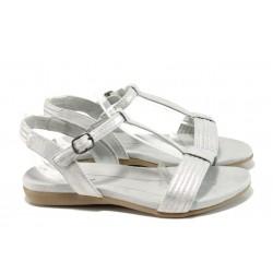 Анатомични дамски сандали Jana 8-28165-28Н сребро | Равни немски сандали | MES.BG