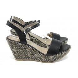 Дамски сандали на платформа Marco Tozzi 2-28358-28 черен | Немски сандали на ток | MES.BG