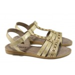 Дамски сандали Jana 8-28114-28H злато | Равни немски сандали | MES.BG